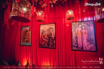 Kuala Lumpur Wedding Deco Decoration Kiong Art Wedding Deco Old Shanghai Style Wedding 旧上海风情婚礼 Steven and Tze Hui at Golden Dragonboat Restaurant 金龙船鱼翅海鲜酒家 Malaysia A16-A01-005