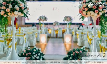 Kuala Lumpur Wedding Event Deco Wedding Planner Kiong Art Wedding Event 吉隆坡一站式婚礼策划布置 Klang Commercial Convention Centre KCCC 巴生皇城商务会展中心 B01-005