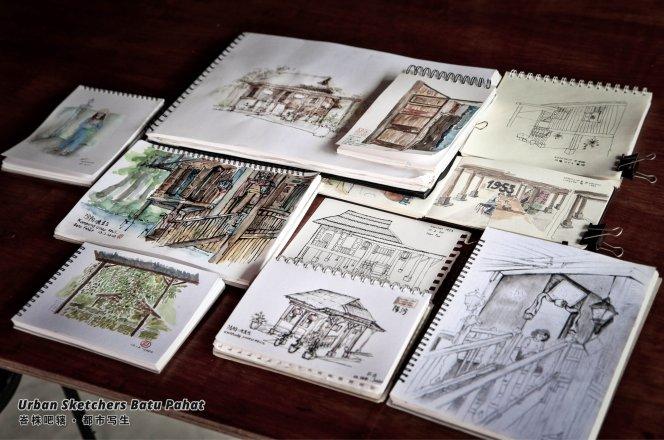 Urban Sketchers Batu Pahat Johor Malaysia Art Drawing Sketching 马来西亚 柔佛 峇株吧辖都市写生 艺术 画画 A002