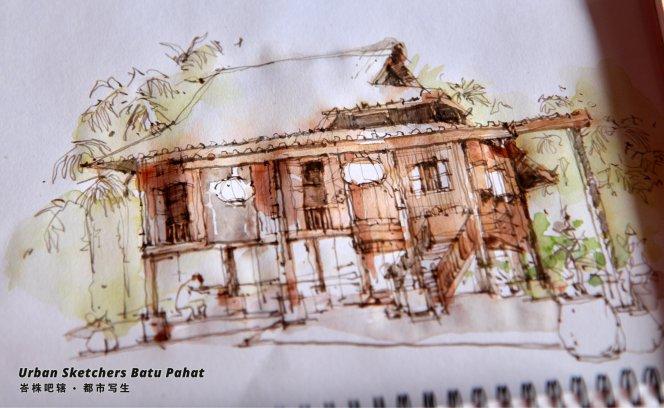 Urban Sketchers Batu Pahat Johor Malaysia Art Drawing Sketching 马来西亚 柔佛 峇株吧辖都市写生 艺术 画画 A014
