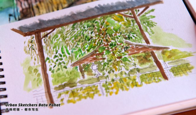 Urban Sketchers Batu Pahat Johor Malaysia Art Drawing Sketching 马来西亚 柔佛 峇株吧辖都市写生 艺术 画画 A019