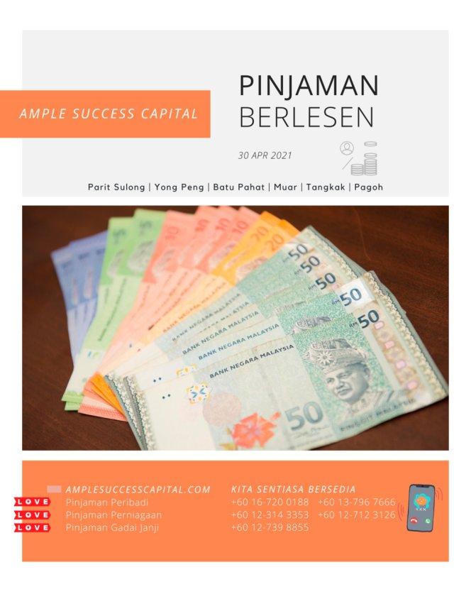 Pinjaman Wang Parit Sulong Pinjaman Wang Batu Pahat Pinjaman Wang Muar Pinjaman Wang Berlesen Parit Sulong Loan Ample Success Capital A07-1
