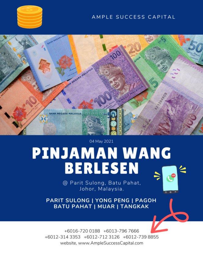 Pinjaman Wang Parit Sulong Pinjaman Wang Batu Pahat Pinjaman Wang Muar Pinjaman Wang Berlesen Parit Sulong Loan Ample Success Capital A11