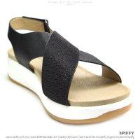 Modern Fashion Spiffy Sandals Shoes – CT3437 Black | Silver Colour