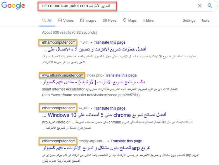 الحصول على نتائج من موقع واحد فقط البحث بشكل احترافي