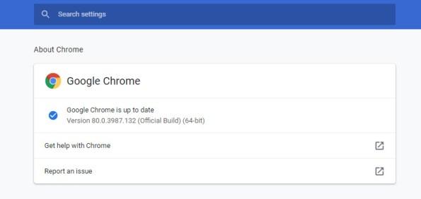 تحديث Google Chrome
