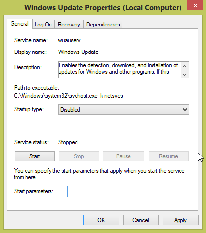 تسريع الانترنت بـ الغاء Windows Update