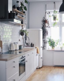Best Creative Small Kitchen Design And Organization Ideas with white backsplash