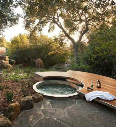 Irresistible Hot Tub Spa Designs for Your Backyard That Will Upgrade Your Home 9