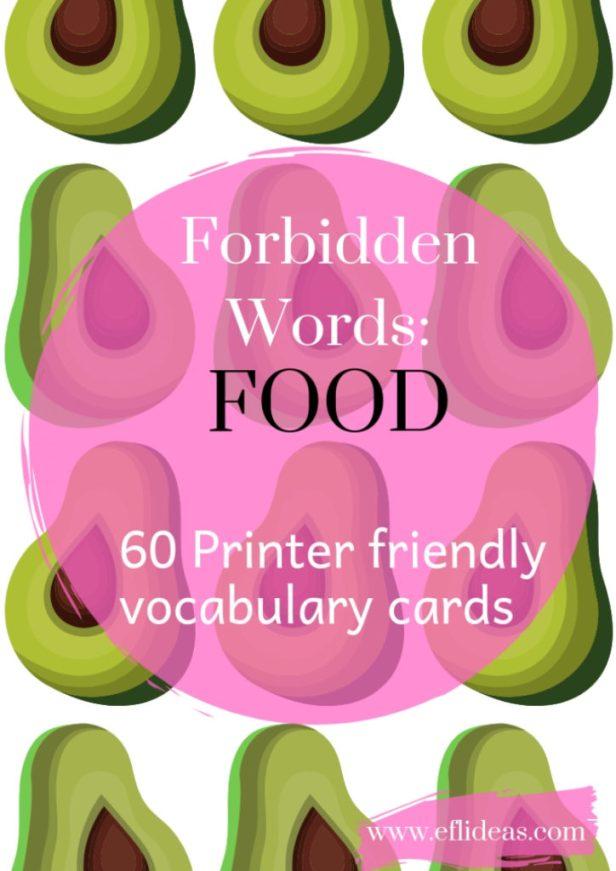 esl vocabulary activity food