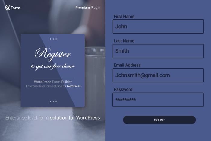 eForm - Ultimate WordPress Form Builder Solution