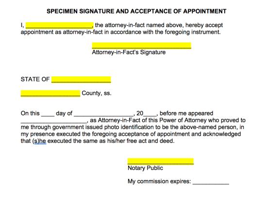 power-of-attorney-agent-acceptance-addendum