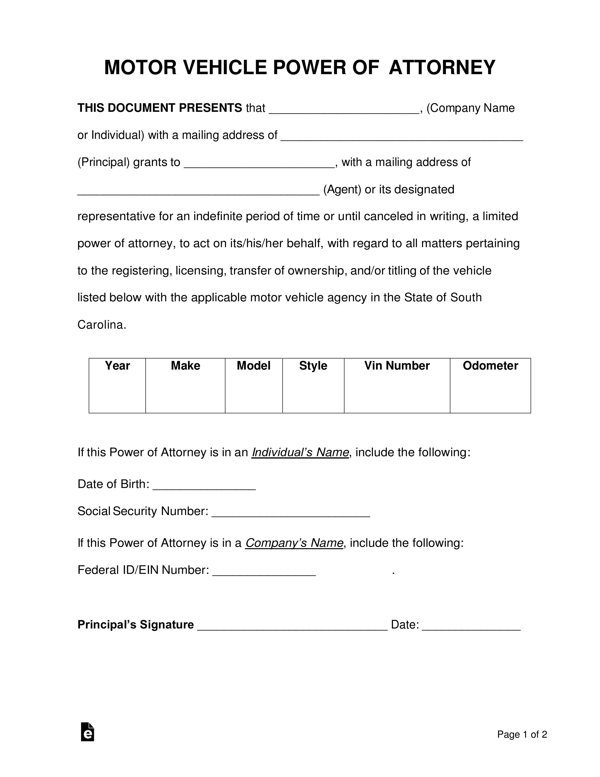 Signing Declaration Worksheet