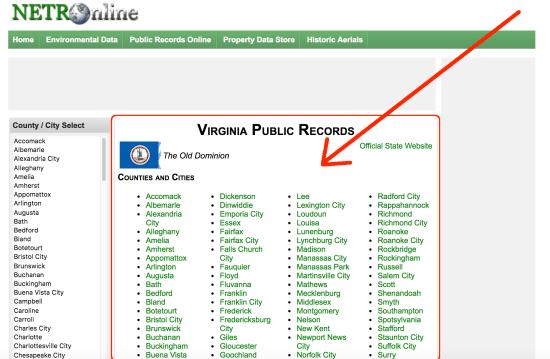 virginia-property-search-webpage