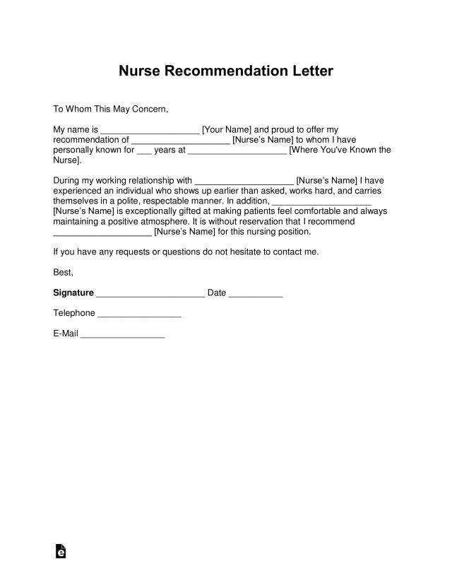 Free Registered Nurse Rn Letter Of