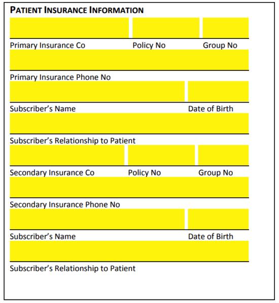 Free Medical Health Insurance Verification Form Pdf Eforms
