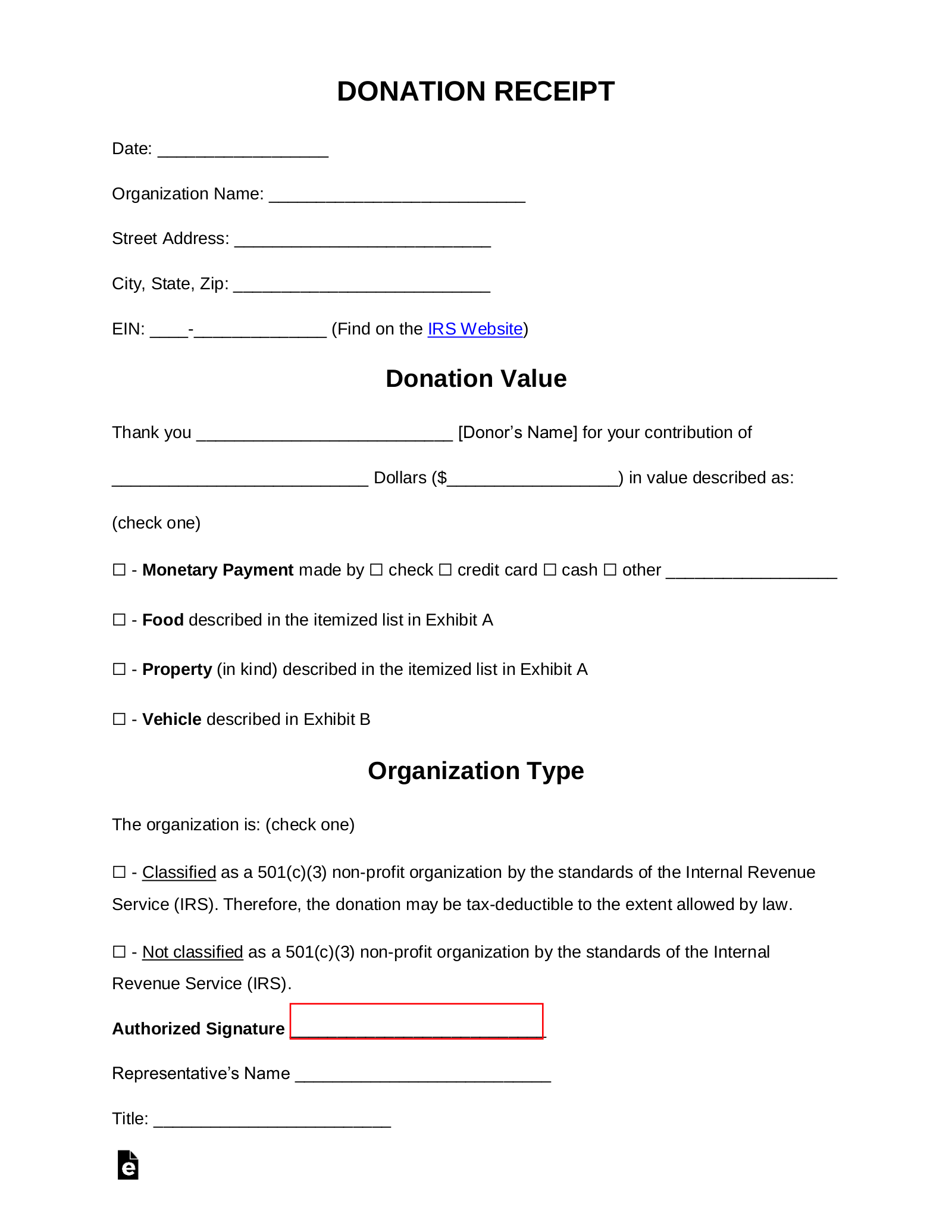 Free Donation Receipt Templates Samples