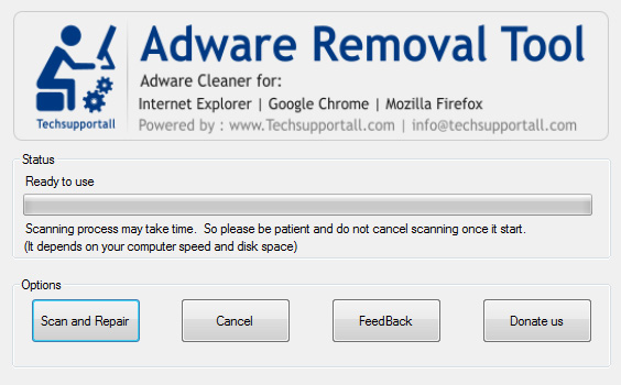 Use of Adware Removal Tool