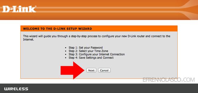 D Link router setup step 3