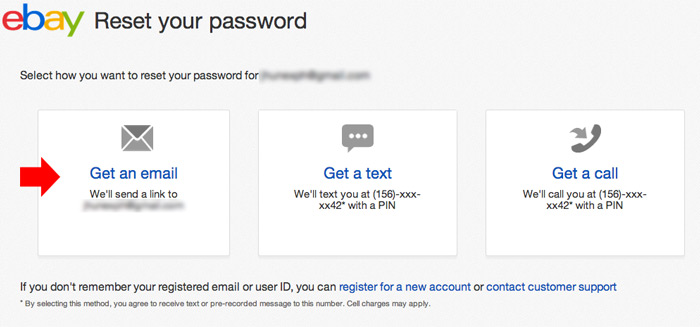 change ebay password step 4