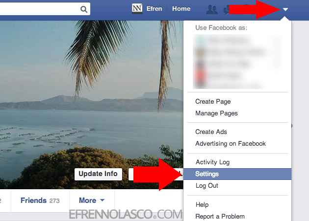 How to change facebook password step 2