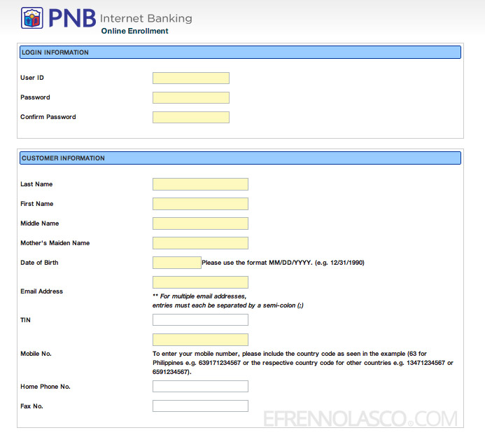 how to enroll to pnb net banking step 4