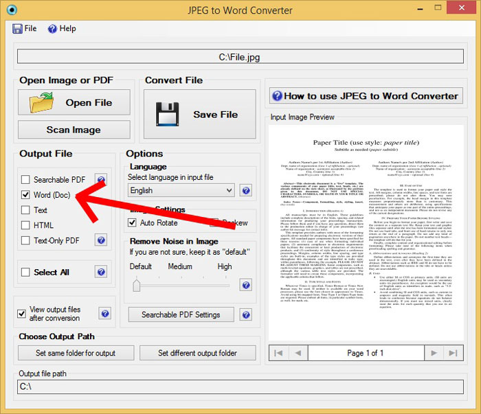 Convert-JPEG-Files-to-Word-Document-Step-2