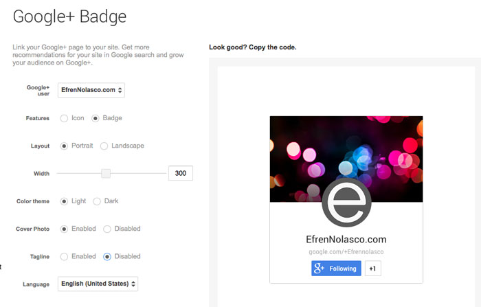 Create-google-plus-badge1
