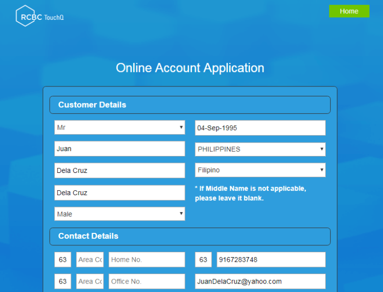 RCBC Telemoney Savings Account Online Registration
