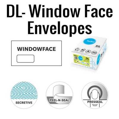 DL Window Face Envelopes 110 x 220mm