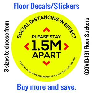 Coronavirus (COVID-19) Floor Sticker – 01