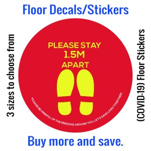 Coronavirus (COVID-19) Floor Sticker – 07