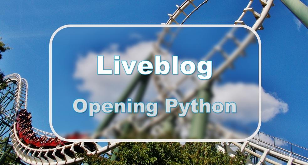 Liveblog: opening Python
