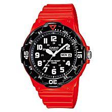 MRW-200HC-4BVDF Rubber Watch - Red