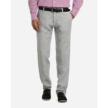 Regular Fit Linen Pants - Grey