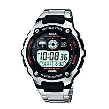 AE-2000WD-1AVDF ساعة يد من الاستانلس ستيل - فضي