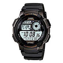 AE-1000W-1AVDF Rubber Watch - Black