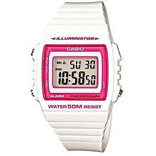 W-215h-7a2 Rubber Watch – White