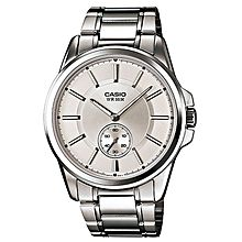 MTP-E101D-7A Stainless Steel Watch - Silver