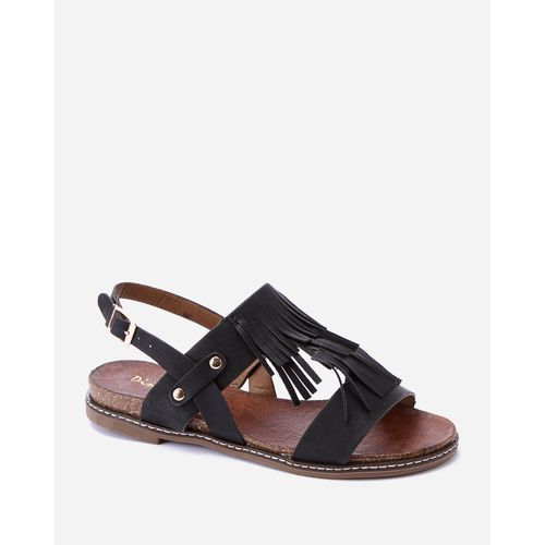 Fringed Sandals - Black