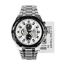 EF-539D-7AV Stainless Steel Watch - For Men - Silver