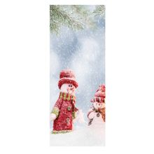 TA Christmas Self-Adhesive Vinyl 3D Door Wallpaper Stickers for Decals MT149-Colorful