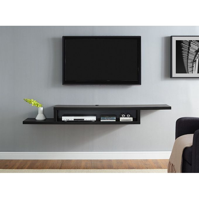 tv stand shelf 135 cm black
