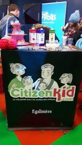 Stand Citizen Kid au salon Kidexpo 2016 - Egalimère