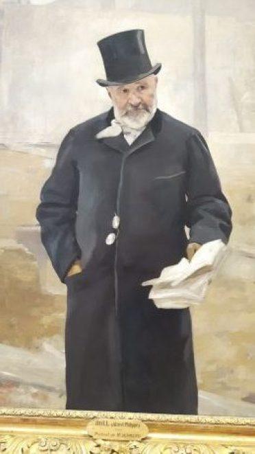 Portrait de Mr Alphand -Tableau ROLL (Alfred Philippe) - Egalimère - Silent Sunday 57