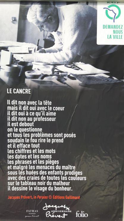 Le cancre - Jacques Prévert - Silent Sunday 64 Egalimère