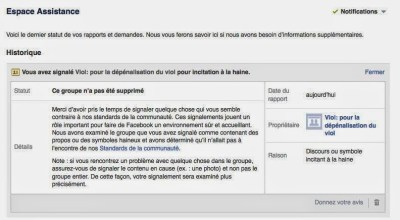 liberté d'opinions et règles facebook