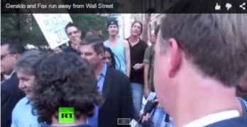 Geraldo Rivera at Occupy Wall Street