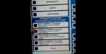 "Daily Kos: EVIDENCE: 2012 Voting Machine Switching ""Obama"" vote to ""Romney"""