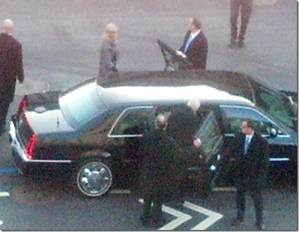 Vice President Joe Biden Entering Limousine(b)